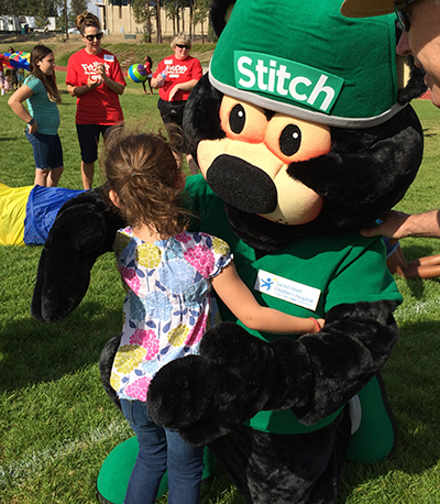 Stitch the Bear from Providence on KSPS FitKids Day