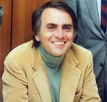 Carl Sagan, host of Cosmos