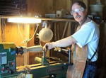 Blind woodturner Dennis DeVendra