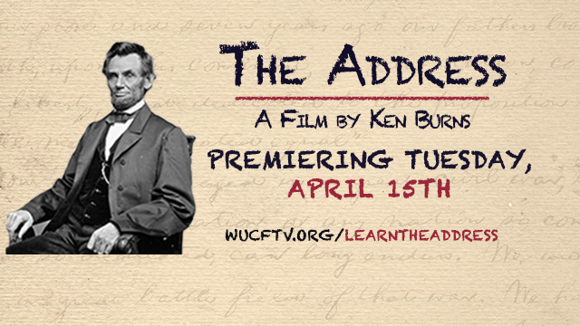 "Ken Burns' ""The Address"" is coming to WUCF TV on April 15th!"