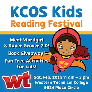 KCOS Kids Reading Festival Ad - Wordgirl Super Grover-300.png