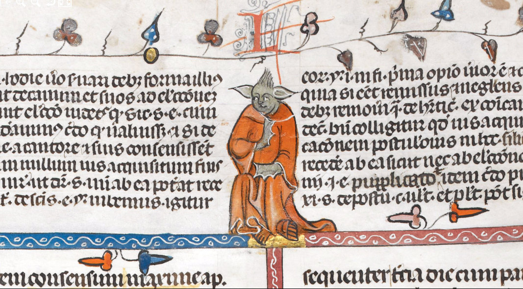 Yoda? Is it Thou? Figure In 14th-Century Manuscript Looks Familiar