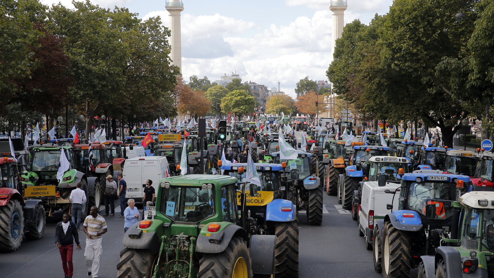 Farmers Stage Massive Tractor Protest In Paris