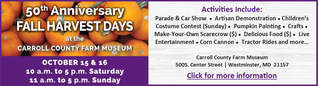 50th Anniversary Fall Harvest Days - Oct 15-16