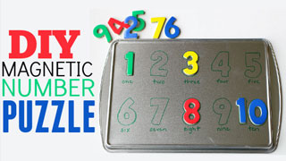 DIY Magnetic Number Puzzle