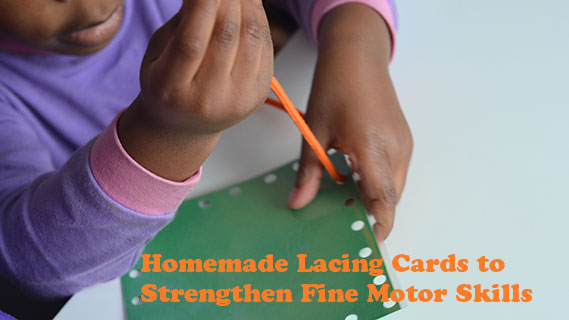 Lacing Cards to Strengthen Fine Motor Skills