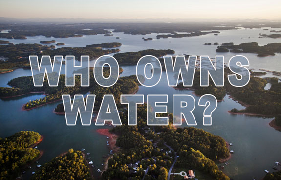 Who owns the waterways in Oregon?