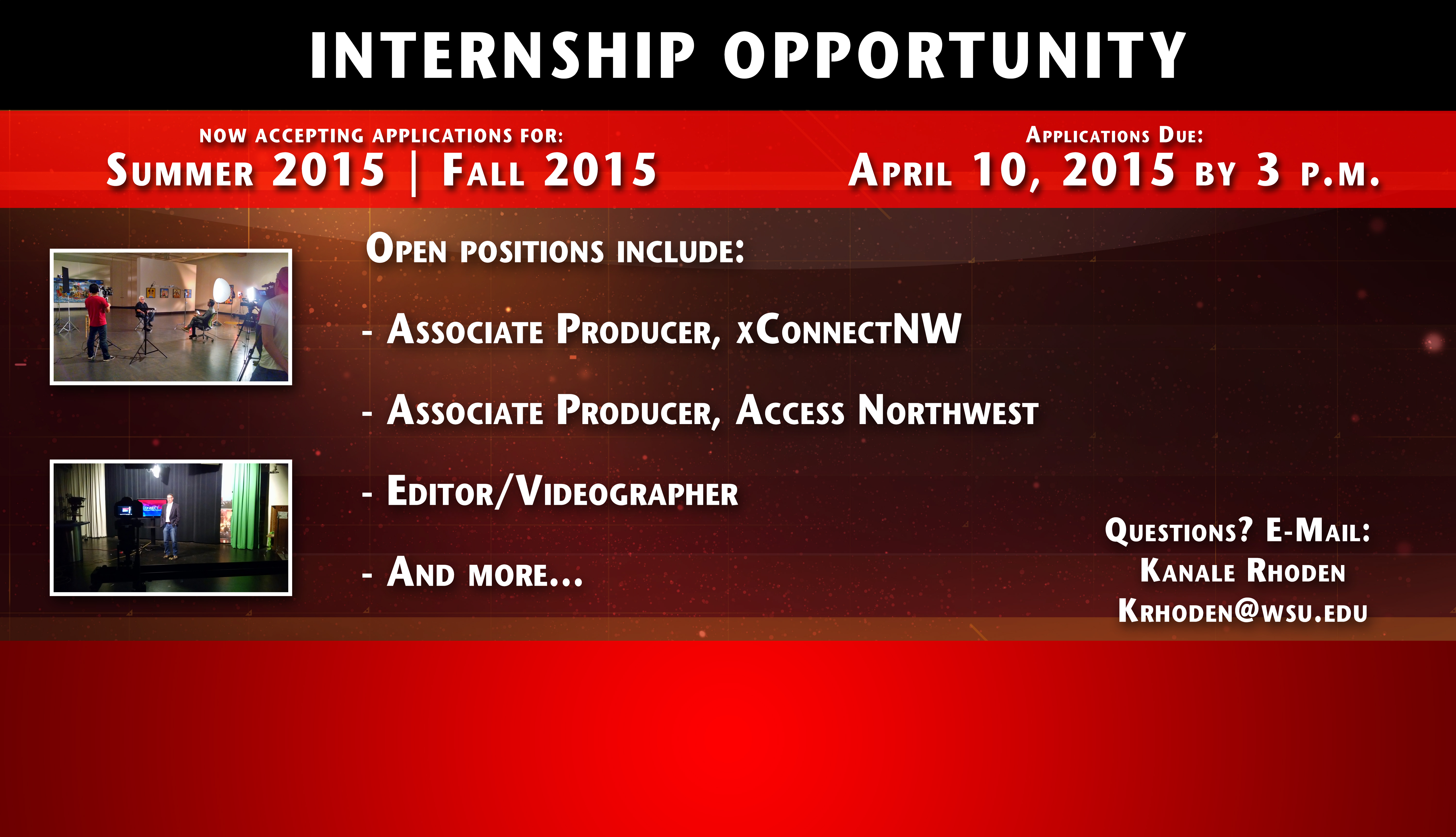Apply to be an intern with us!