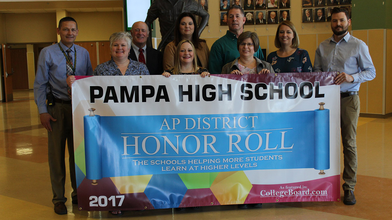 Pampa HS receives national honor for advanced placement scores