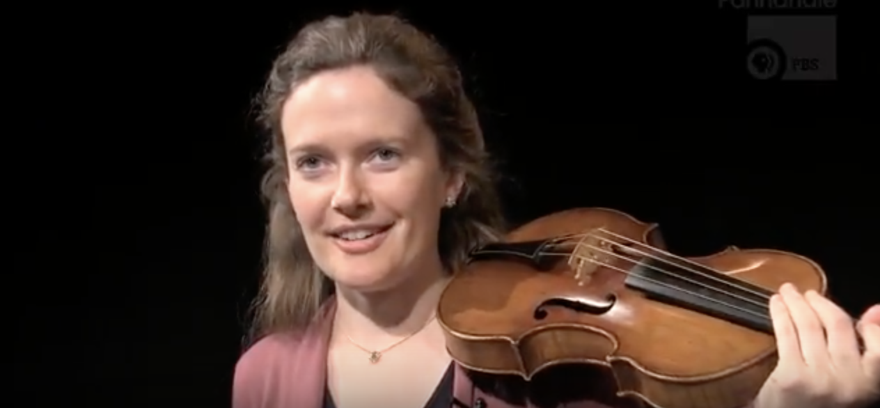 Concert Baroque violinist Fiona Hughes honors grandparents with performance
