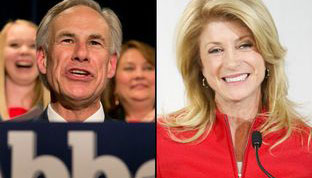 Easy Primary Victories for Abbott and Davis