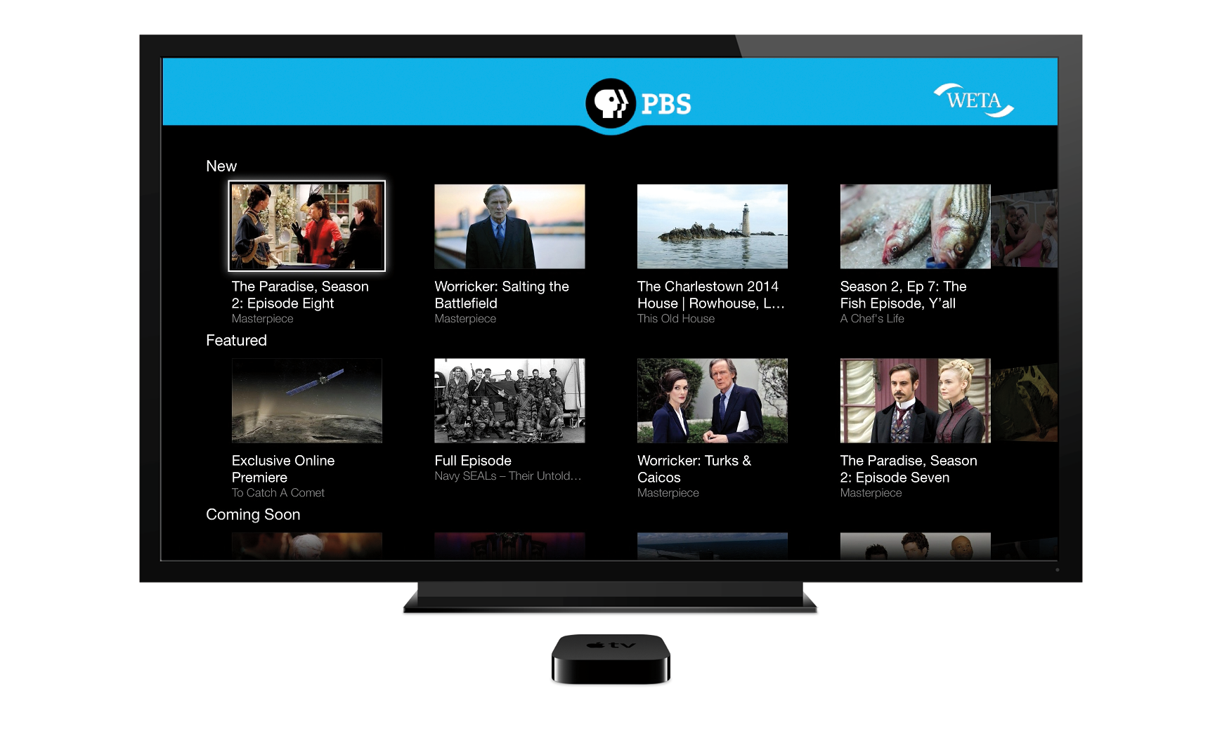 Oeta anywhere apple tv for Oeta schedule