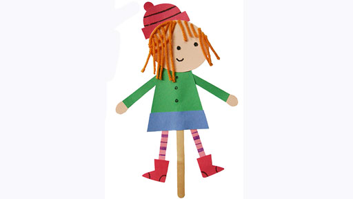 Peg + Cat Stick Puppets