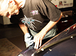 "Master of freehand pinstriping Jim ""Dauber"" Farr has painted custom vehicles for over 40 years"
