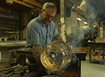 Explore the studio of Cleveland glass blower Mark Sudduth