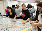 Students at Heritage Middle School in Hilliard, Ohio put a modern twist on the mosaic