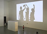 British artist Philip Worthington combines graphic design and technology to create shadow monsters
