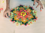 Inspired by the Buddhist tradition, Tampa's Paula Brett makes one-of-a-kind mandalas out of candy