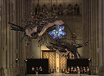 Graceful phoenix sculptures by Chinese artist Xu Bing take flight in New York City's Cathedral Church of St. John the Divine