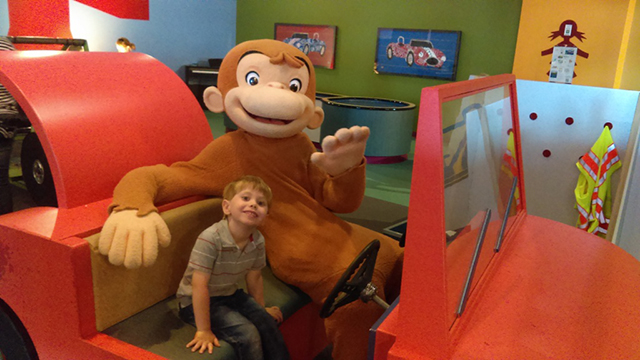 Curious George at the Mid-Michigan Children's Museum