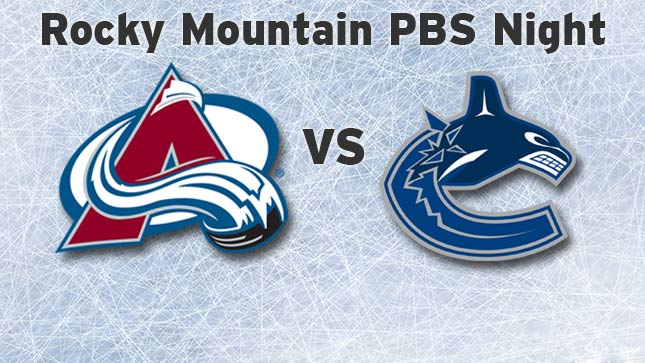 October 24: Rocky Mountain PBS Night with the Colorado Avalanche