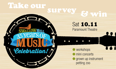 Win tickets to Swallow Hill's 35th Anniversary Celebration!