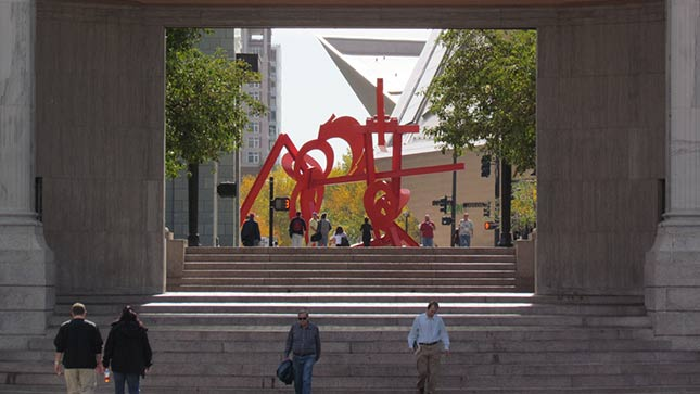 he city of Denver intends to build on its arts and cultural scene, which includes a robust public art program including this work in front of the Public Library.