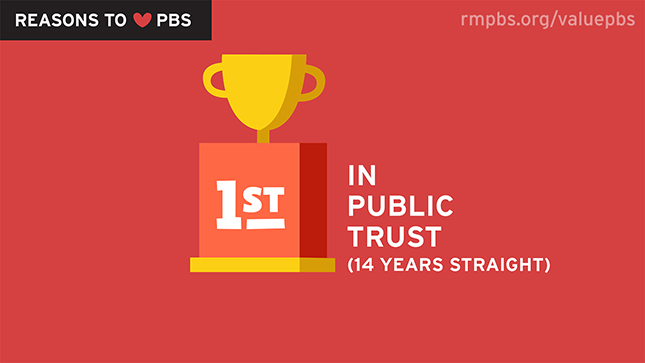 PBS is #1 in Public Trust