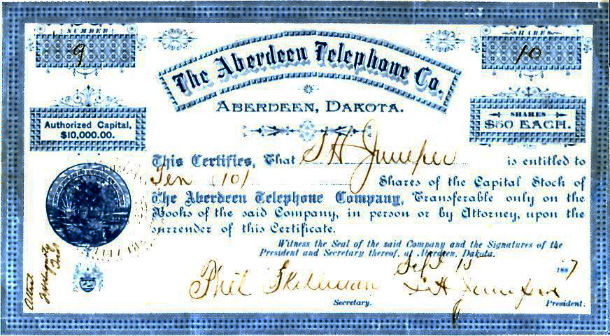 J.L.W. Zietlow and his Dakota Central Telephone Company