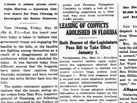 Florida Ends Convict Leasing