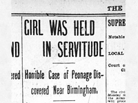 Girl Held in Servitude