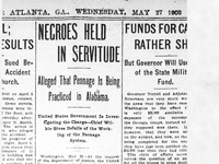 Negroes Held in Servitude