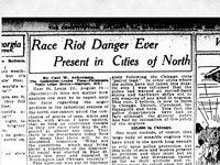 Race Riot Danger Present in North