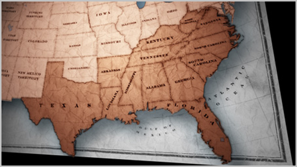 Timeline Of Slavery In America Slavery By Another Name PBS PBS - Us political map 1950