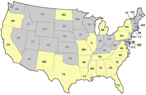 Interactive State By State Map