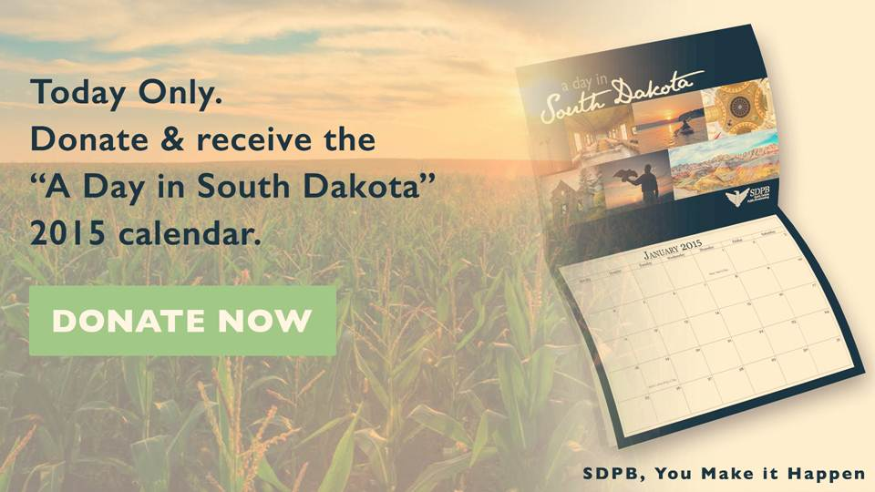 Today only - get the SDPB Landscapes of SD 2015 Calendar