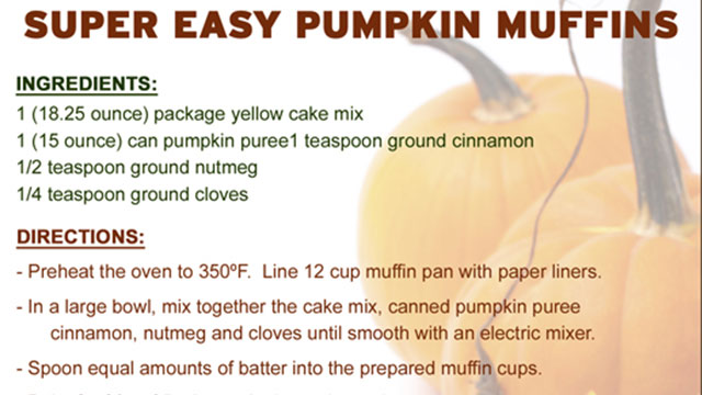Super Easy Pumpkin Muffins