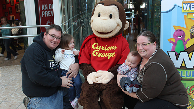Curious George at the Marketplace at Steamtown
