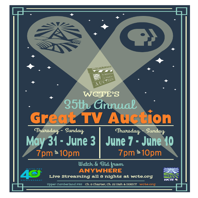 Great TV Auction May 31-June 3 & June 7-10!