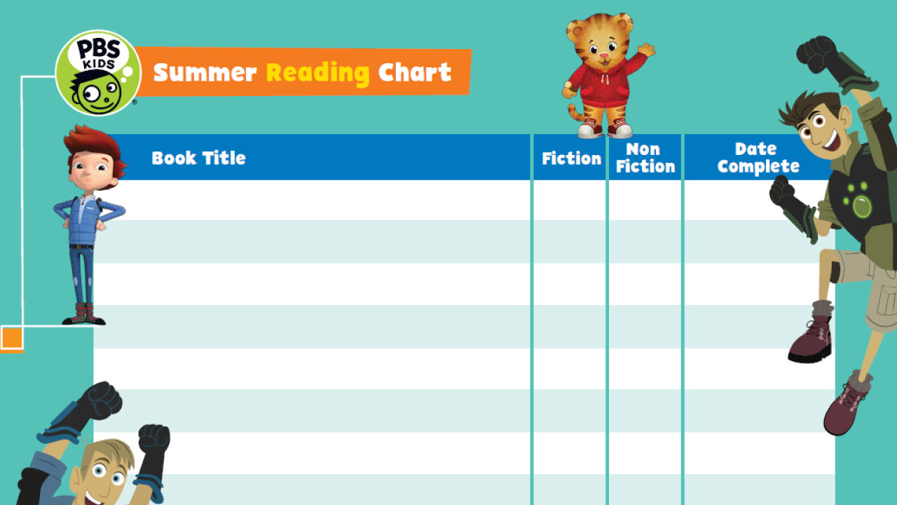 PBS KIDS Summer Reading Chart (PDF)