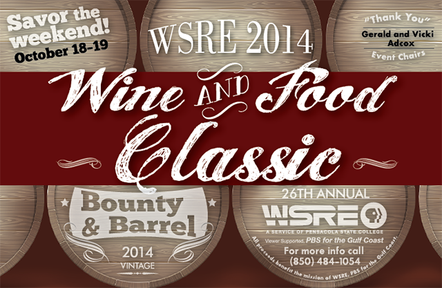 WSRE 2014 Wine and Food Classic Bounty and Barrel Corporate Sponsors