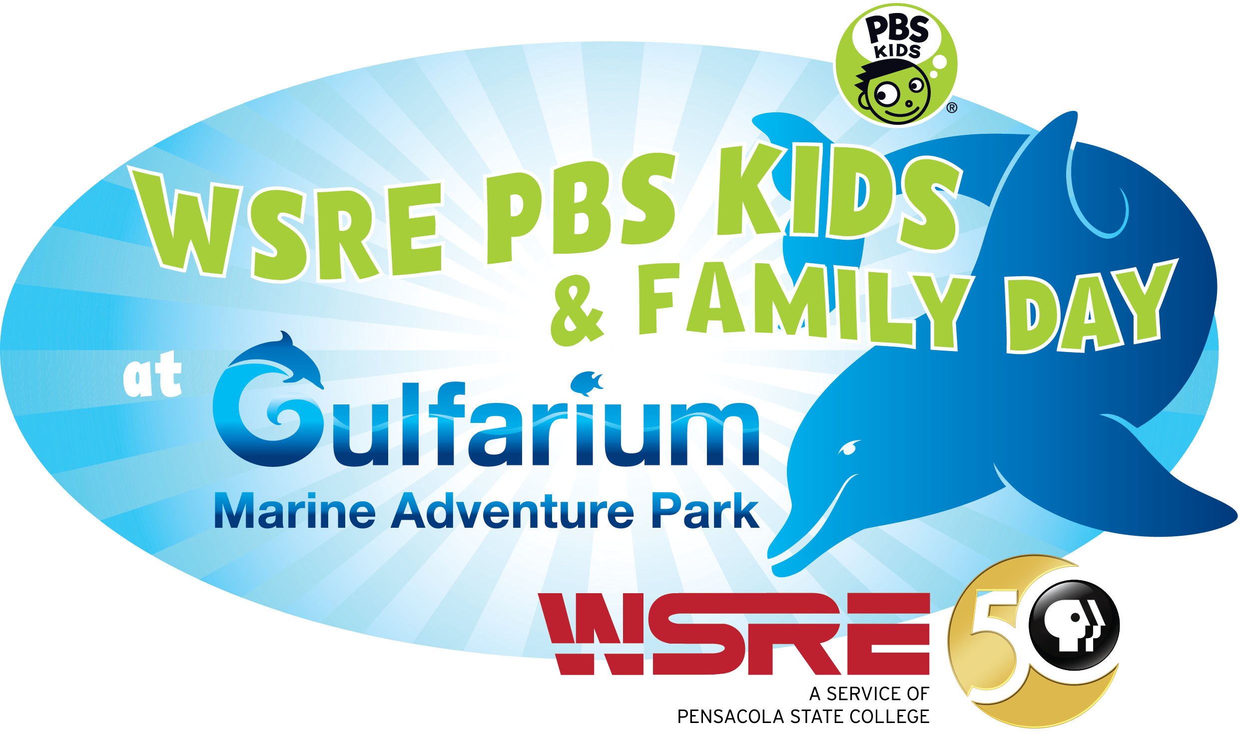 3rd Annual WSRE PBS FAMILY DAY at Gulfarium Marine Adventure Park