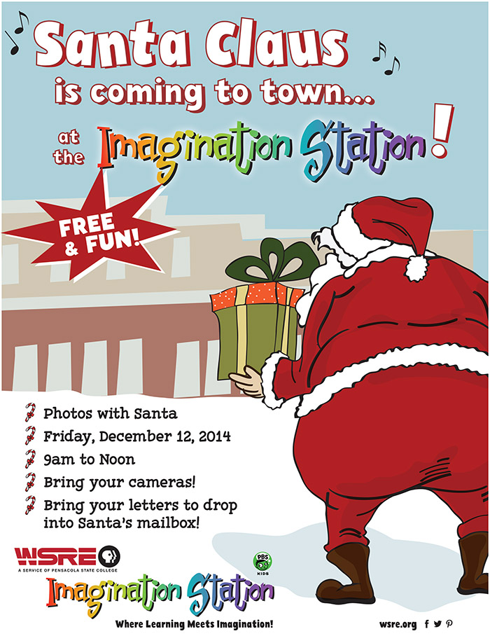 Santa Claus will visit WSRE Imagination Station Pensacola