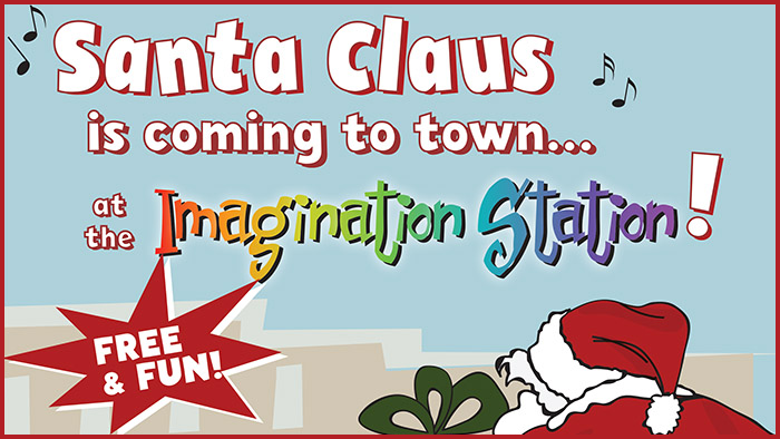Santa Claus visits the WSRE Imagination Station
