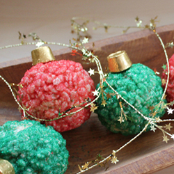 Rice Krispie Holiday Ornaments