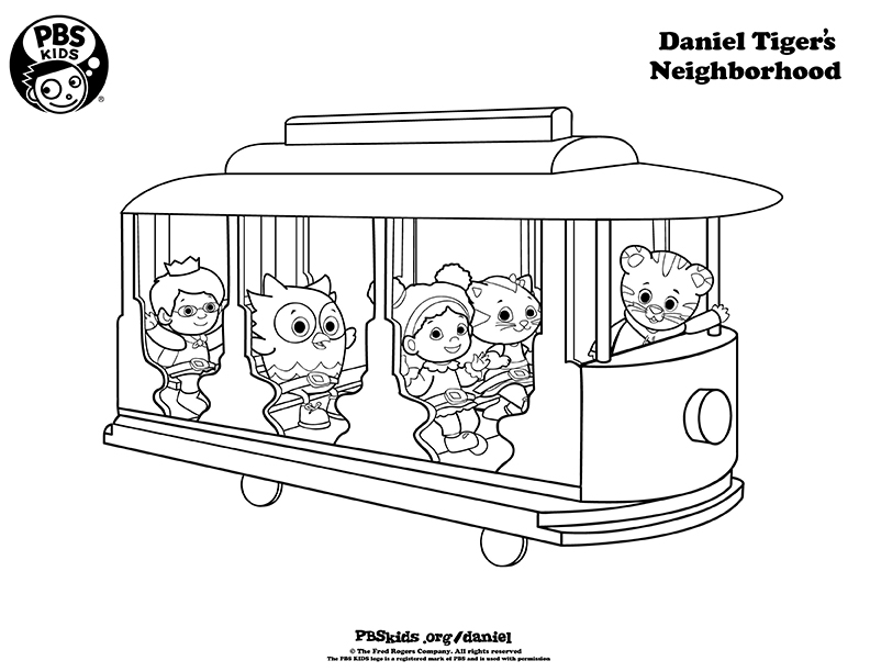 daniel tigers neighborhood - Daniel Tiger Coloring Pages