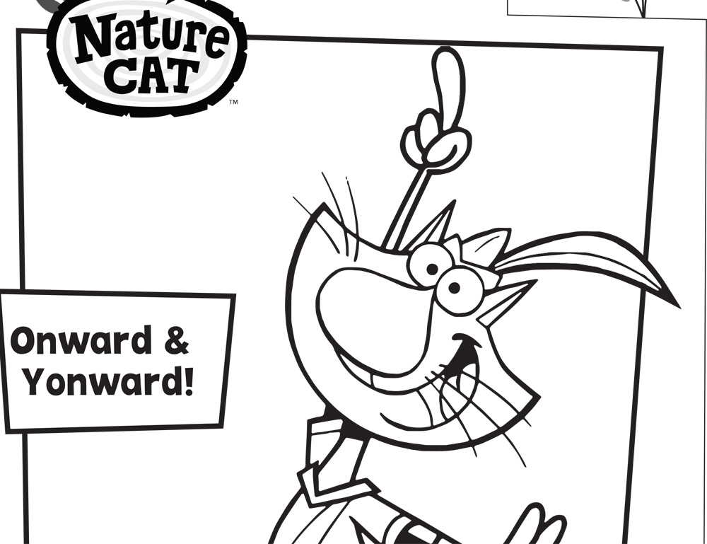 latest color with nature cat with super y coloring pages