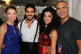 Sutton Foster, Ektor Rivera, Ana Villafane and Christopher Jackson pose for a photo backstage during <em>A Capitol Fourth</em> concert at the U.S. Capitol, West Lawn, on July 4, 2016 in Washington, DC.