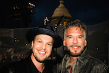 Gavin DeGraw and Kenny Loggins pose for a photo backstage during <em>A Capitol Fourth</em> concert at the U.S. Capitol, West Lawn, on July 4, 2016 in Washington, DC.