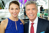 Sutton Foster and Tom Bergeron pose for a photo backstage during <em>A Capitol Fourth</em> concert at the U.S. Capitol, West Lawn, on July 4, 2016 in Washington, DC.